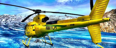 Juneau Helicopter on Glacier